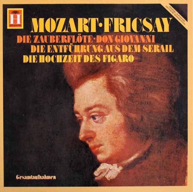 フリッチャイのモーツァルト/「魔笛」、「フィガロの結婚」ほか 独HELIODOR 3311 LP レコード