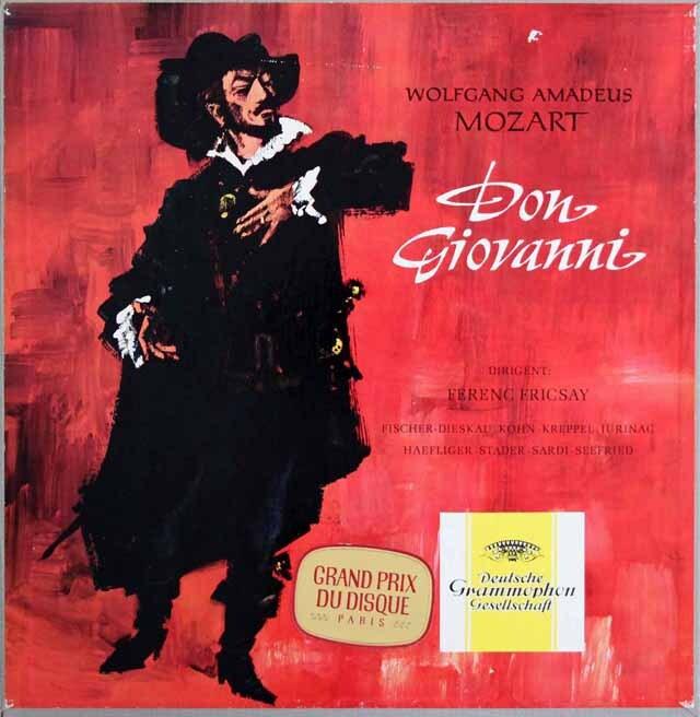 【独最初期盤 】フリッチャイのモーツァルト/「ドン・ジョヴァンニ」全曲 独DGG 3311 LP レコード