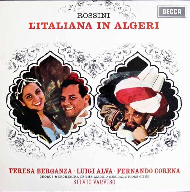 ベルガンサ&ヴァルヴィーゾのロッシーニ/「アルジェのイタリア女」全曲 英DECCA 3311 LP レコード
