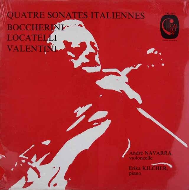 ナヴァラのロカテッリ/チェロ・ソナタほか 仏CALLIOPE 3312 LP レコード