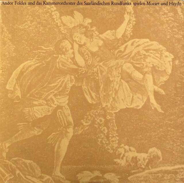 フォルデスのモーツァルト/ピアノ協奏曲第17番ほか 独Roechling-Burbach 3312 LP レコード