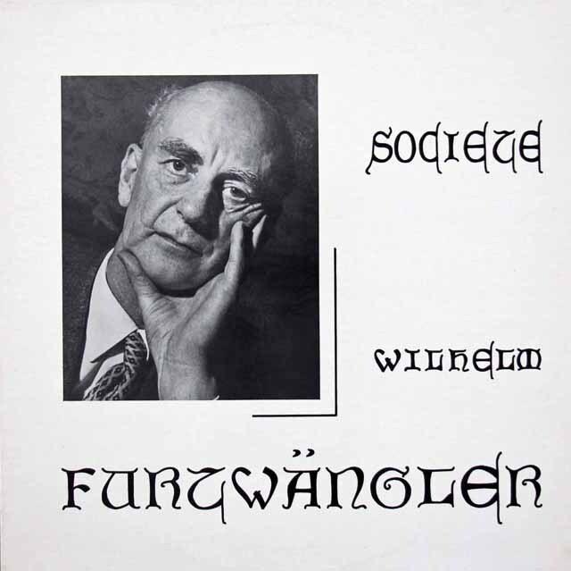 【400枚限定】 ギーゼキング&フルトヴェングラーのシューマン/ピアノ協奏曲 仏WF協会 3312 LP レコード