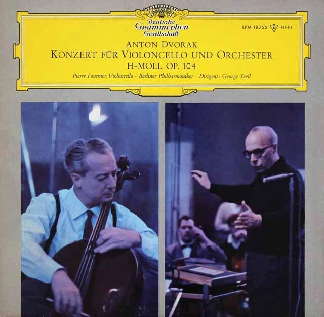 【モノラル】 フルニエ&セルのドヴォルザーク/チェロ協奏曲 独DGG 3312 LP レコード