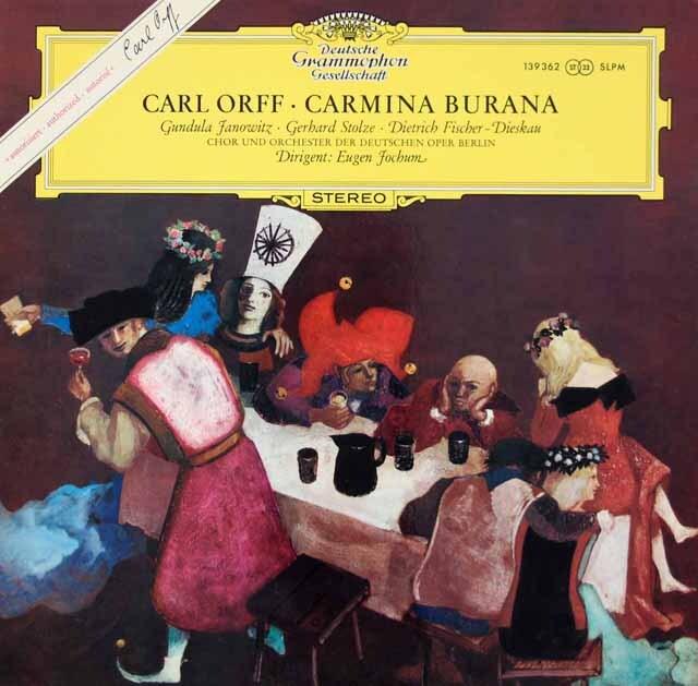 ヨッフムのオルフ/「カルミナ・ブラーナ」  独DGG 3312 LP レコード