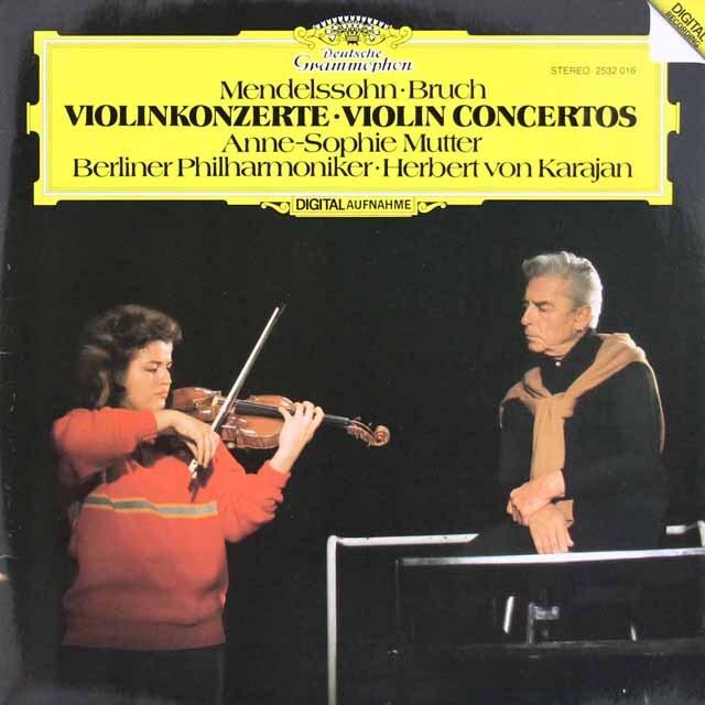 ムター&カラヤンのメンデルスゾーン&ブルッフ/ヴァイオリン協奏曲 独DGG 3312 LP レコード