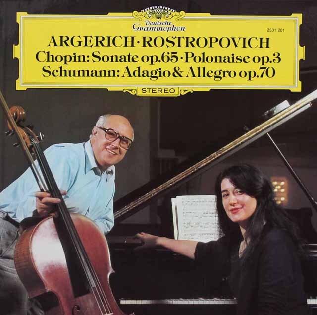 アルゲリッチ&ロストロポーヴィチのショパン/チェロソナタほか 独DGG 3312 LP レコード