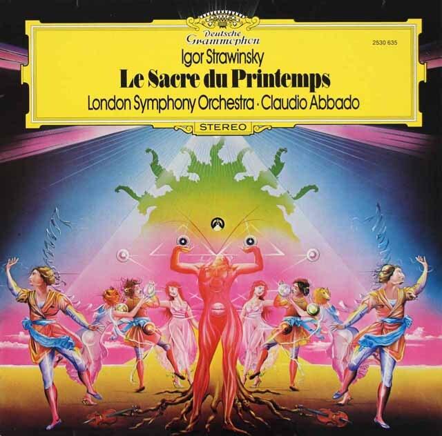 アバドのストラヴィンスキー/「春の祭典」 独DGG 3312 LP レコード