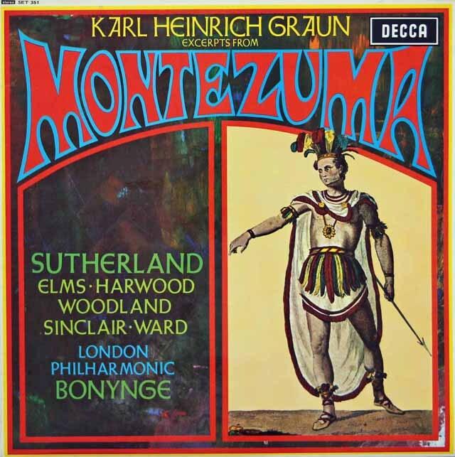 【オリジナル盤】 サザーランド&ボニングのグラウン/歌劇「モンテズマ」(抜粋) 英DECCA 3312 LP レコード