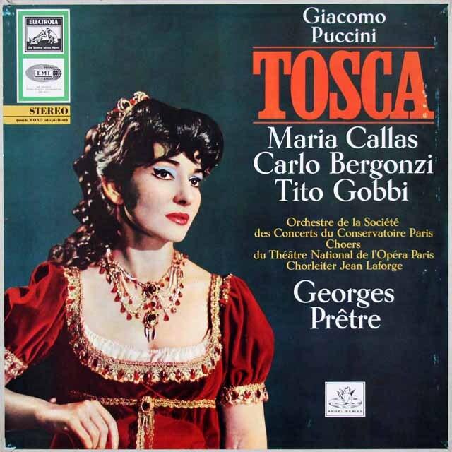カラス&プレートルのプッチーニ/「トスカ」全曲 独ELECTROLA 3312 LP レコード