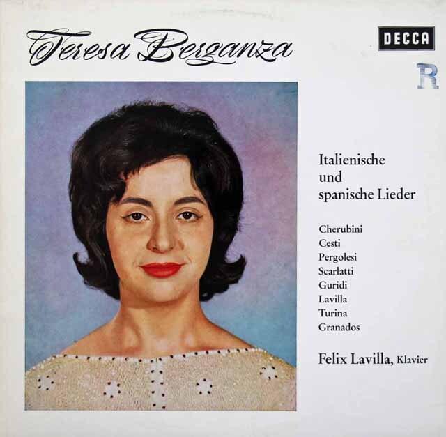 ベルガンサのイタリア&スペイン歌曲集 独DECCA 3312 LP レコード
