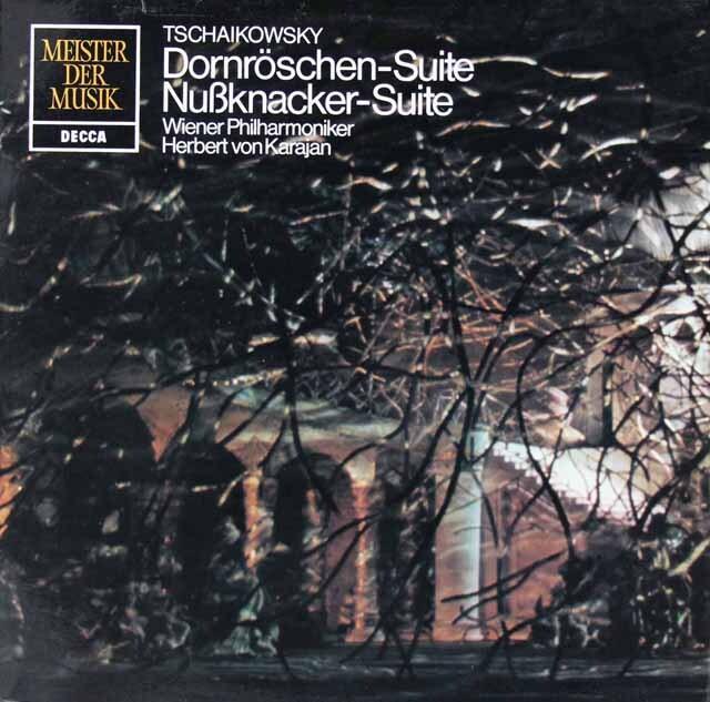カラヤンのチャイコフスキー/「くるみ割り人形」&「眠りの森の美女」組曲 独DECCA 3312 LP レコード