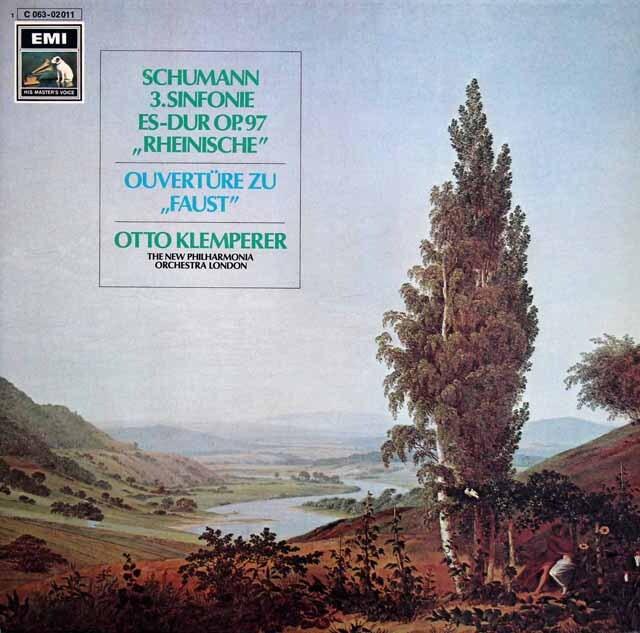クレンペラーのシューマン/交響曲第3番「ライン」ほか 独EMI 3312 LP レコード
