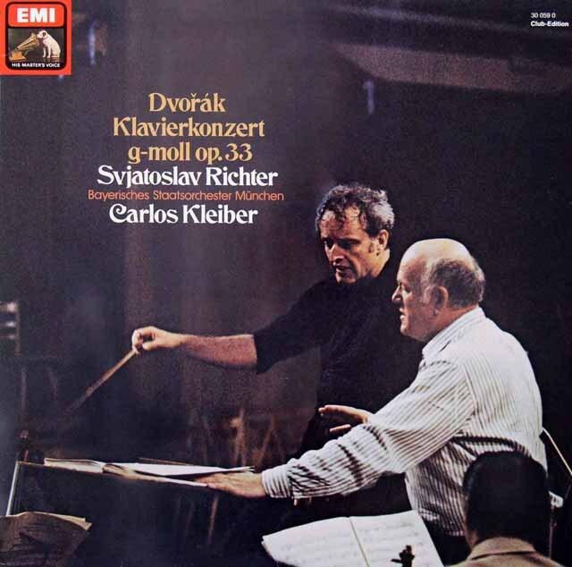 リヒテル&クライバーのドヴォルザーク/ピアノ協奏曲 独EMI 3312 LP レコード