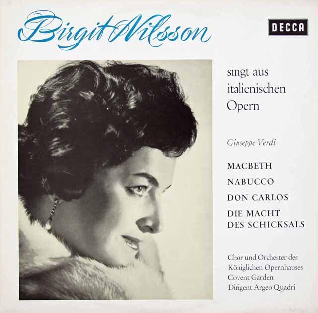 ニルソンのヴェルディ/オペラ・アリア集 独DECCA 3312 LP レコード