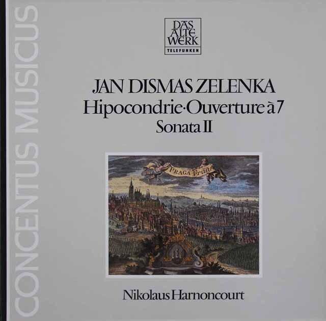 アーノンクールのゼレンカ/「7声のヒポコンドリア」ほか 独TELEFUNKEN 3312 LP レコード