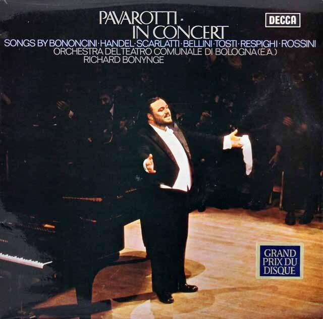 【オリジナル盤】 パヴァロッティ・イン・コンサート 英DECCA 3312 LP レコード
