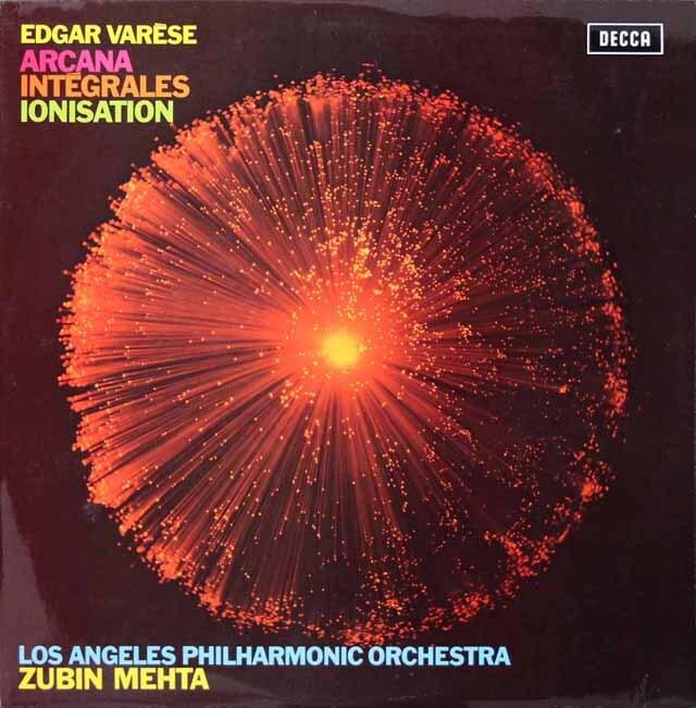 【オリジナル盤】 メータのヴァレーズ/「アルカナ」ほか 英DECCA 3312 LP レコード