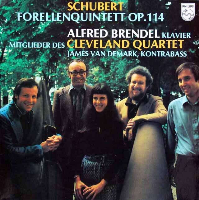 ブレンデル&クリーヴランド四重奏団のシューベルト/ピアノ五重奏曲「鱒」 蘭PHILIPS 3312 LP レコード