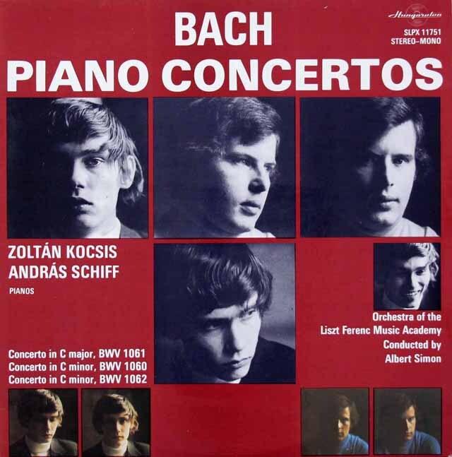 コチシュ&シフらのバッハ/2台のピアノのための協奏曲集 ハンガリーHungaroton 3312 LP レコード