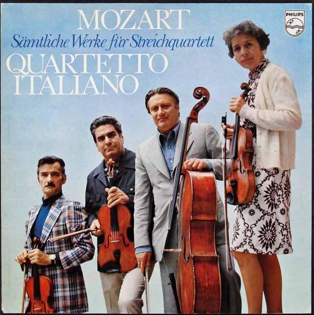 イタリア四重奏団のモーツァルト/弦楽四重奏曲全集  蘭PHILIPS 3312 LP レコード