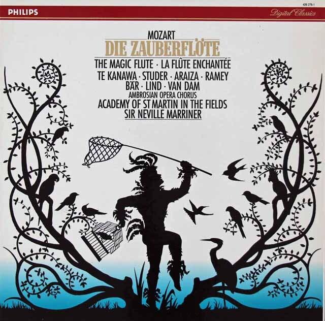 マリナーのモーツァルト/「魔笛」全曲 蘭PHILIPS 3312 LP レコード