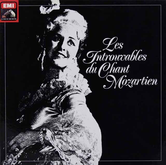 1930年代~80年代の録音によるモーツァルト/オペラアリア集 仏EMI 3312 LP レコード