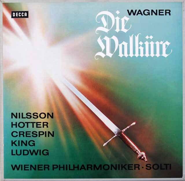 ショルティのワーグナー/「ワルキューレ」全曲 独DECCA 3312 LP レコード