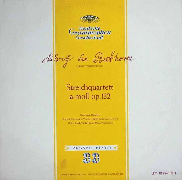 ケッケルト四重奏団のベートーヴェン/弦楽四重奏曲第15番 独DGG 3313 LP レコード
