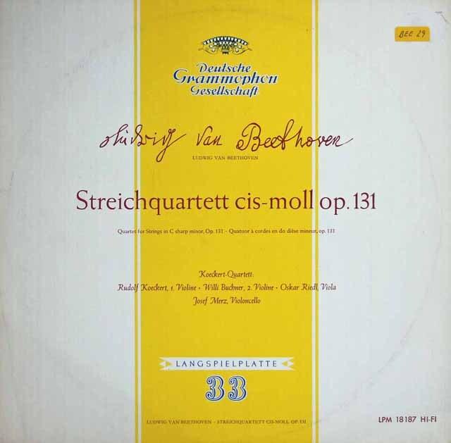 ケッケルト四重奏団のベートーヴェン/弦楽四重奏曲第14番 独DGG 3313 LP レコード