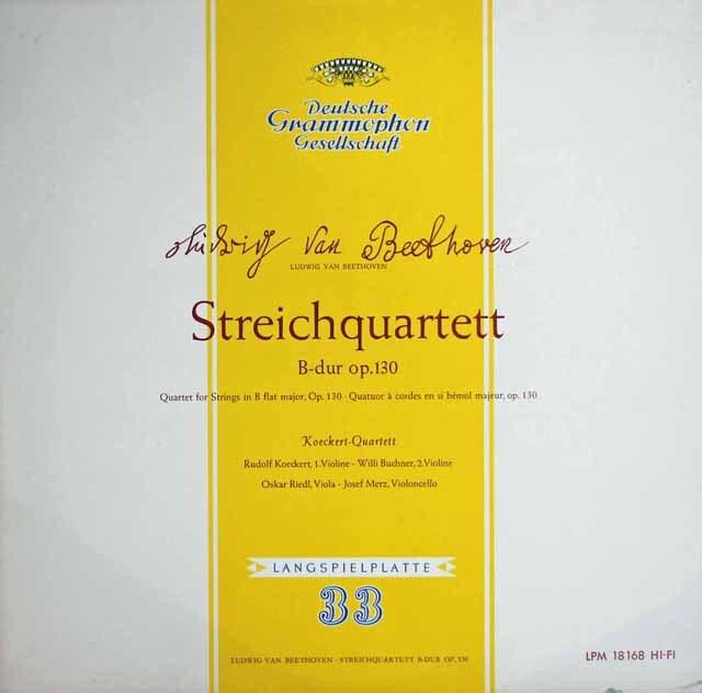 ケッケルト四重奏団のベートーヴェン/弦楽四重奏曲第13番 独DGG 3313 LP レコード