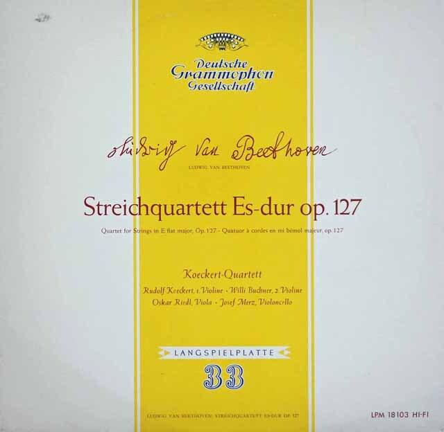 ケッケルト四重奏団のベートーヴェン/弦楽四重奏曲第12番 独DGG 3313 LP レコード