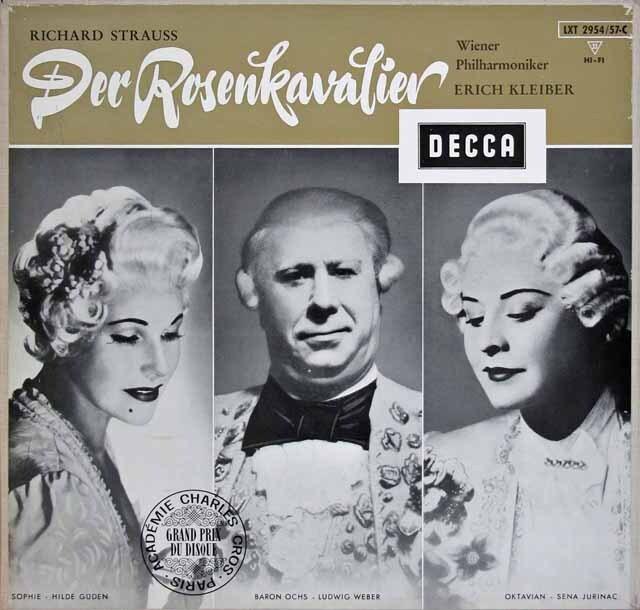 E.クライバーのR.シュトラウス/「ばらの騎士」 独DECCA 3313 LP レコード