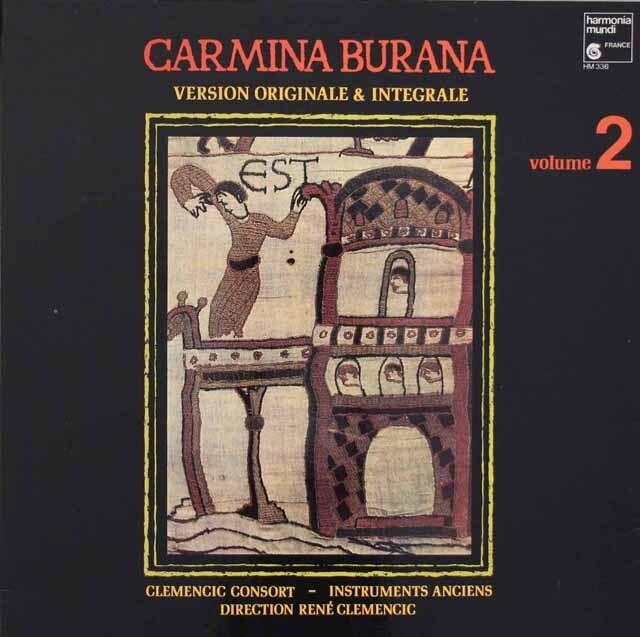クレメンチッチ・コンソートのカルミナ・ブラーナ ~オリジナル・バージョン~ 第2巻 仏HM 3313 LP レコード