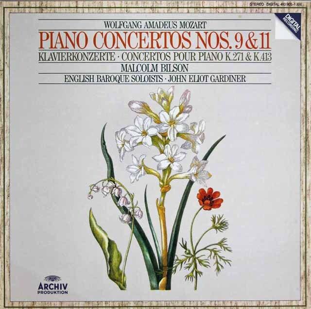 ビルソン、ガーディナーのモーツァルト/ピアノ協奏曲第9、11番 独ARCHIV 3313 LP レコード