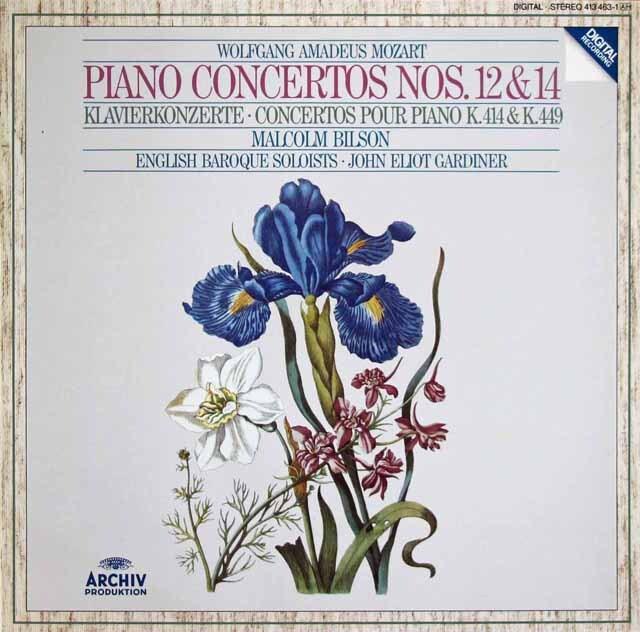 ビルソン&ガーディナーのモーツァルト/ピアノ協奏曲第12、14番 独ARCHIV 3313 LP レコード