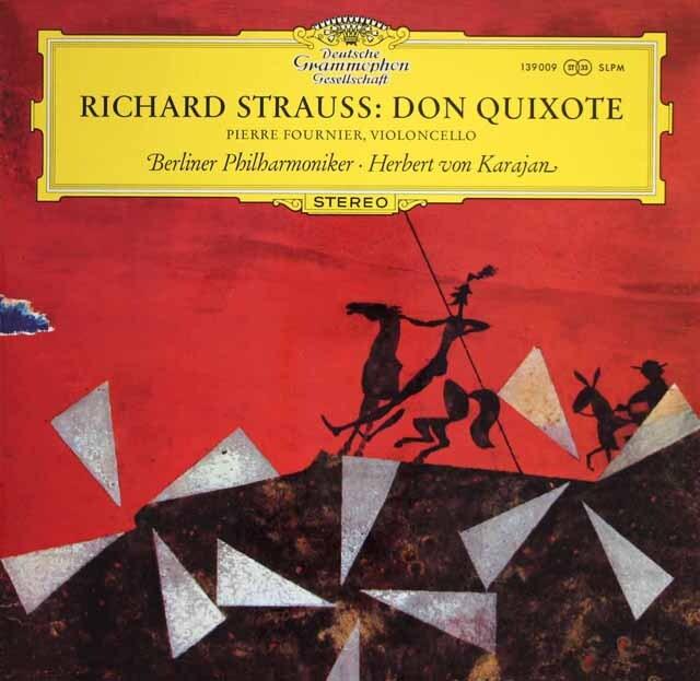 フルニエ&カラヤンのR.シュトラウス/交響詩「ドン・キホーテ」 独DGG 3313 LP レコード