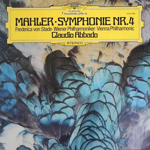 アバドのマーラー/交響曲第4番 独DGG 3313 LP レコード