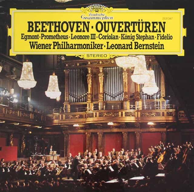 バーンスタインのベートーヴェン/序曲集 独DGG 3313 LP レコード