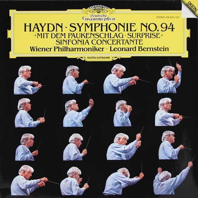 バーンスタインのハイドン/交響曲第94番「驚愕」ほか 独DGG 3313 LP レコード