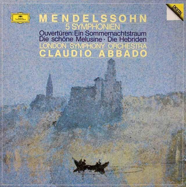アバドのメンデルスゾーン/交響曲全集、序曲集 独DGG 3313 LP レコード