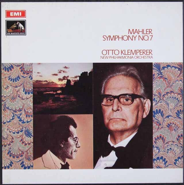 【オリジナル盤】 クレンペラーのマーラー/交響曲第7番「夜の歌」 英EMI 3313 LP レコード
