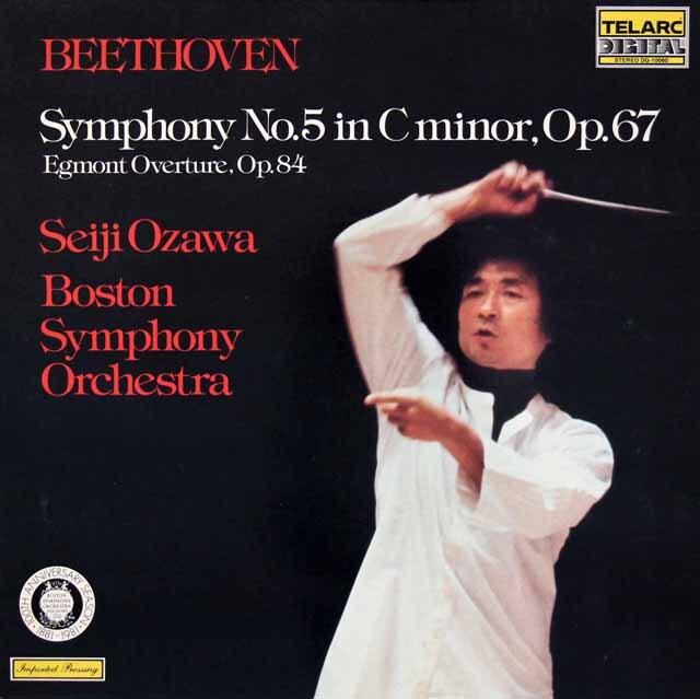 小澤のベートーヴェン/交響曲第5番「運命」ほか 独TELARC 3314 LP レコード