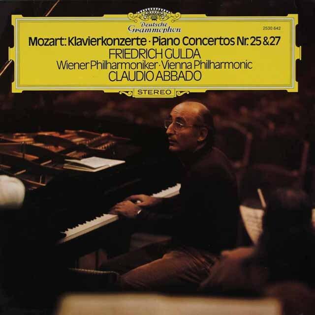 グルダ&アバドのモーツァルト/ピアノ協奏曲第25&27番 独DGG 3314 LP レコード