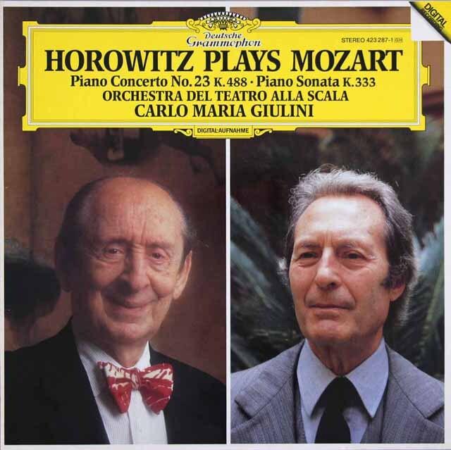 ホロヴィッツ&ジュリーニのモーツァルト/ピアノ協奏曲第23番ほか 独DGG 3314 LP レコード