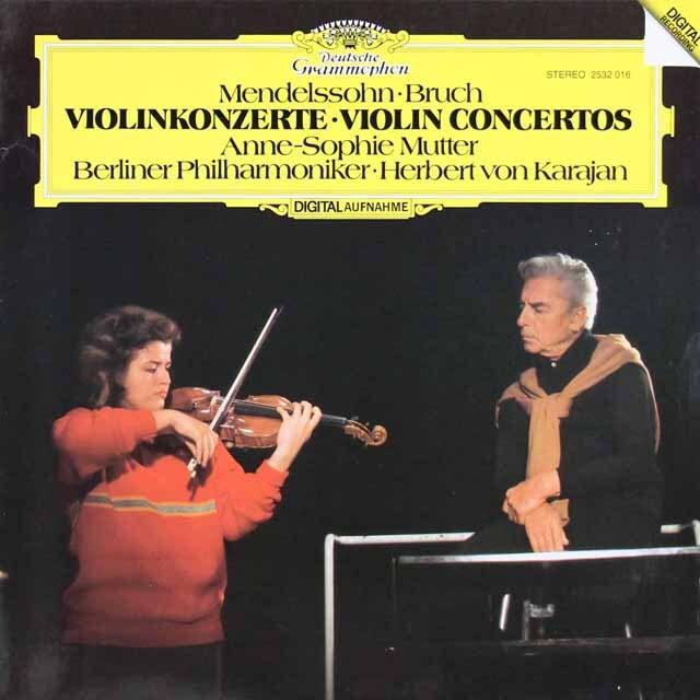 ムター&カラヤンのメンデルスゾーン&ブルッフ/ヴァイオリン協奏曲 独DGG 3314 LP レコード