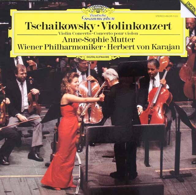 ムター&カラヤンのチャイコフスキー/ヴァイオリン協奏曲  独DGG 3314 LP レコード