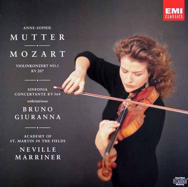 ムター&マリナーのモーツァルト/ヴァイオリン協奏曲第1番ほか 独EMI 3314 LP レコード