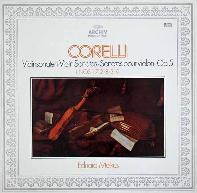 メルクスのコレッリ/ヴァイオリン・ソナタ 作品5(全曲) 独ARCHIV 3314 LP レコード