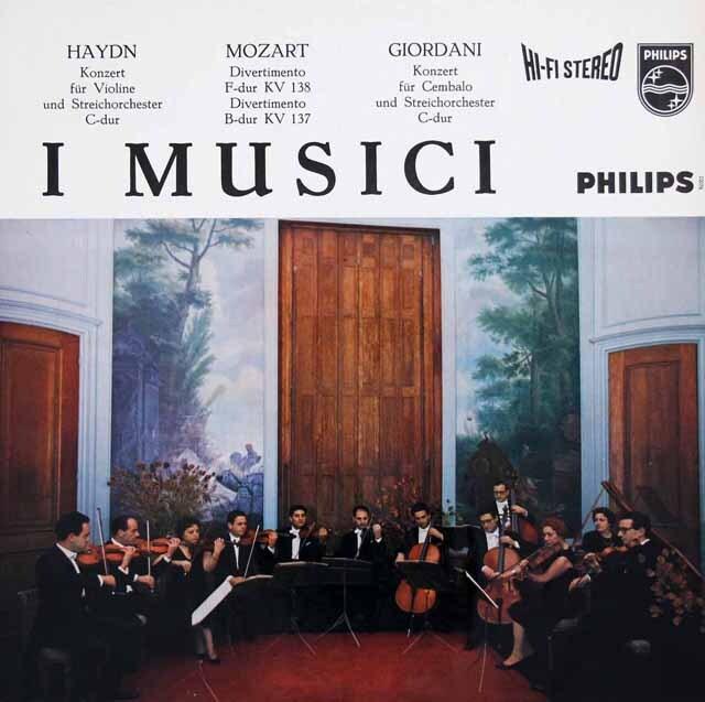 【オリジナル盤】 イ・ムジチのモーツァルト/ディヴェルティメントほか 蘭PHILIPS 3314 LP レコード