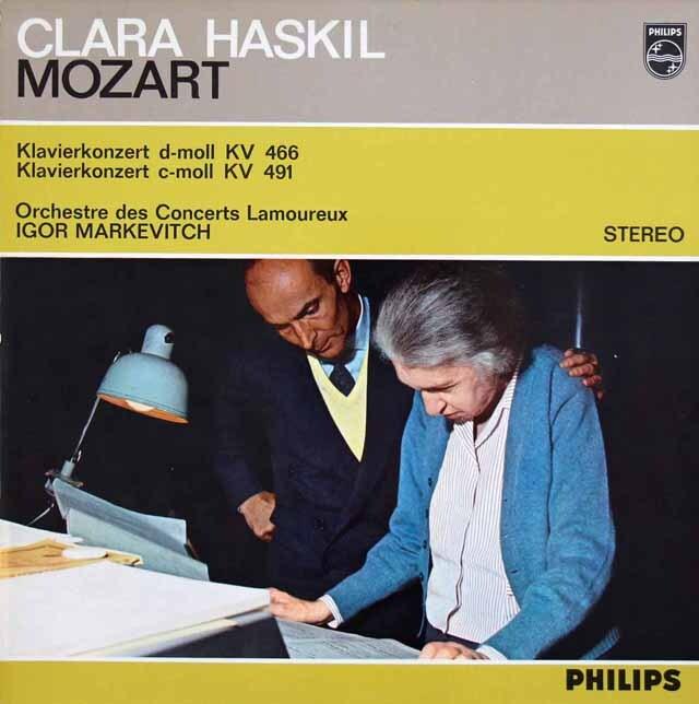 ハスキル&マルケヴィチのモーツァルト/ピアノ協奏曲第20&24番  蘭PHILIPS 3314 LP レコード